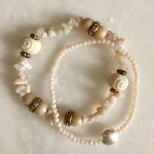 NEW! Freshwater Pearl Bracelet Stack